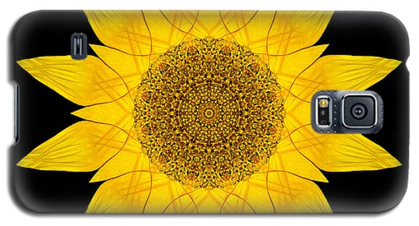Yellow Sunflower X Flower Mandala Galaxy S5 Case