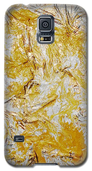 Galaxy S5 Case featuring the mixed media Yellow Sunshine by Angela Stout