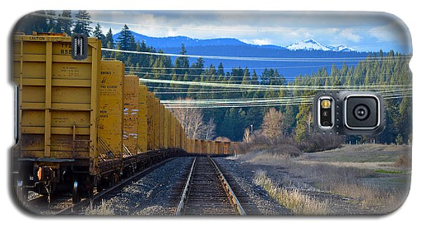 Yellow Train To The Mountains Galaxy S5 Case