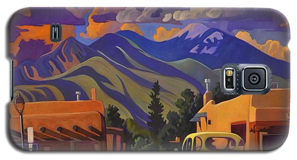 Galaxy S5 Case featuring the painting Yellow Truck by Art James West