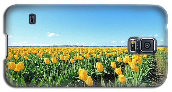 Galaxy S5 Case featuring the photograph Yellow Tulips by E Faithe Lester