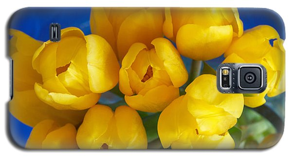 Galaxy S5 Case featuring the photograph Yellow Tulips by Patricia Schaefer