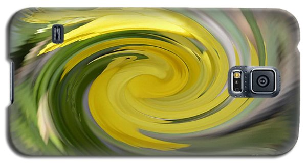 Galaxy S5 Case featuring the digital art Yellow Whirlpool by Luther Fine Art
