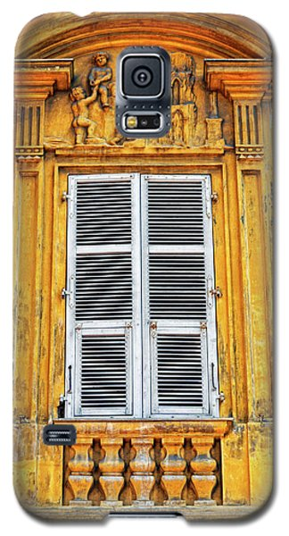 Galaxy S5 Case featuring the photograph Yellow Window Nice France by Dave Mills