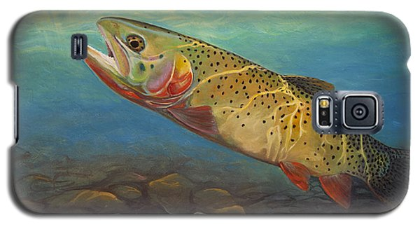 Yellowstone Cut Takes A Salmon Fly Galaxy S5 Case