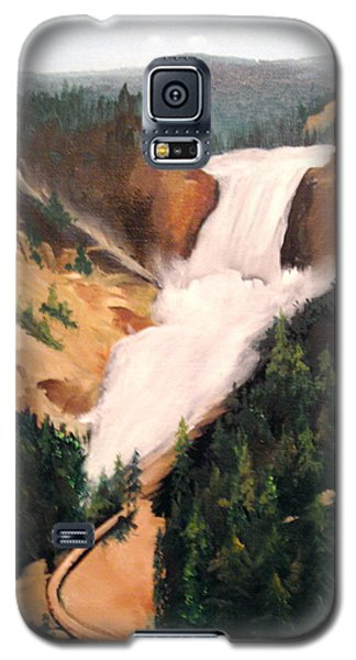 Galaxy S5 Case featuring the painting Yellowstone by Ellen Canfield