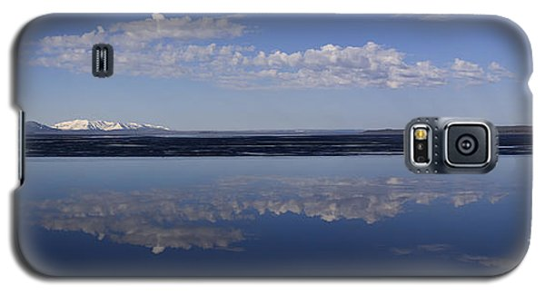 Galaxy S5 Case featuring the photograph Yellowstone Lake Reflections by J L Woody Wooden