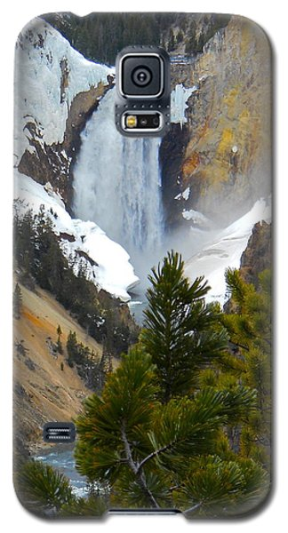 Yellowstone Lower Falls In Spring Galaxy S5 Case by Michele Myers