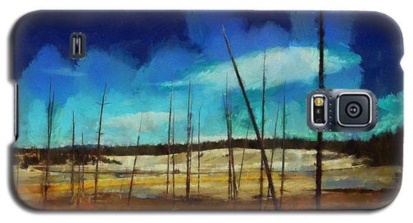 Galaxy S5 Case featuring the digital art Yellowstone National Park by Kai Saarto