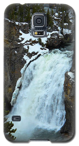 Yellowstone Upper Falls In Spring Galaxy S5 Case by Michele Myers