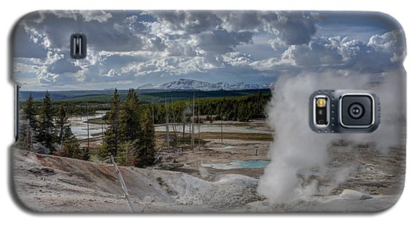 Yellowstone's Norris Geyser Basin Galaxy S5 Case