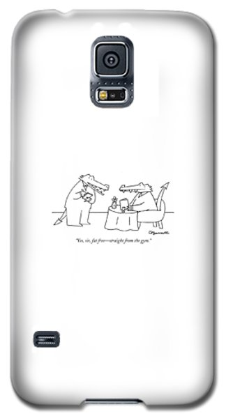 Alligator Galaxy S5 Case - Yes, Sir, Fat Free - Straight From The Gym by Charles Barsotti