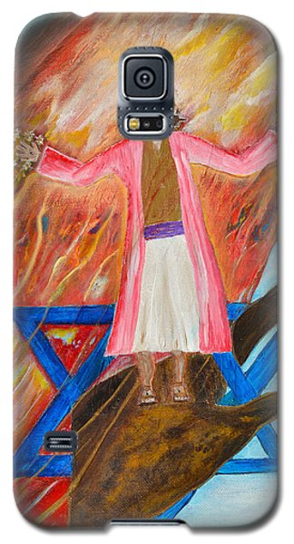 Galaxy S5 Case featuring the painting Yeshua by Cassie Sears