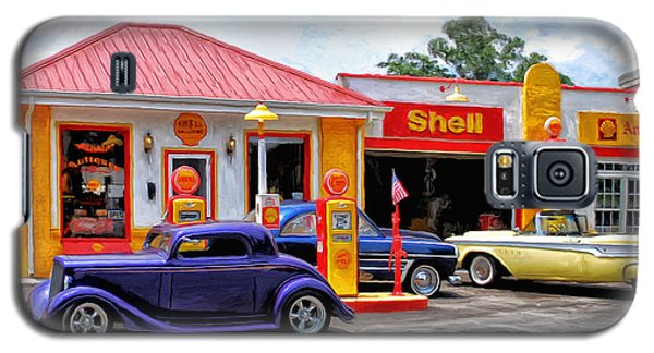 Yesterday's Shell Station Galaxy S5 Case by Michael Pickett