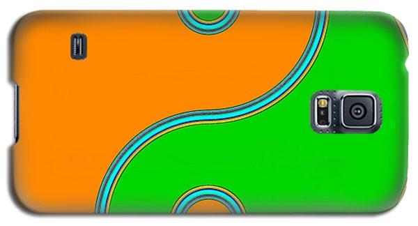 Yin Yang Orange Green Pop Art Galaxy S5 Case by Eti Reid