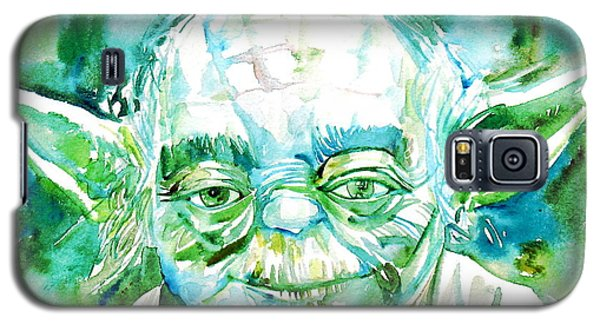 Star Wars Galaxy S5 Case - Yoda Watercolor Portrait by Fabrizio Cassetta