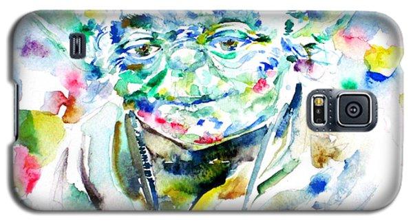 Yoda Watercolor Portrait.1 Galaxy S5 Case by Fabrizio Cassetta