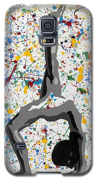 Galaxy S5 Case featuring the painting Yoga Down Pose by Denise Deiloh