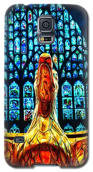 Galaxy S5 Case featuring the photograph York Minster Gold Eagle by Jack Torcello