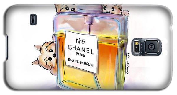 Yorkie Chanel Crazies Galaxy S5 Case