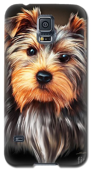 Yorkie Portrait By Spano Galaxy S5 Case