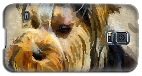 Galaxy S5 Case featuring the painting Yorkshire Terrier by Georgi Dimitrov