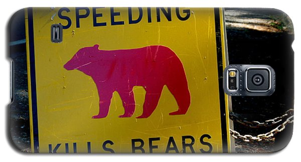 Yosemite Bear Sign Speeding Kills Bears Galaxy S5 Case