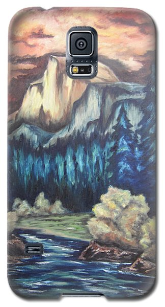 Galaxy S5 Case featuring the painting Yosemite by Cheryl Pettigrew
