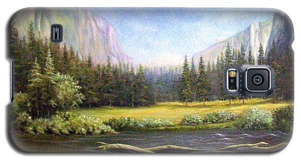 Galaxy S5 Case featuring the painting Yosemite by Loxi Sibley