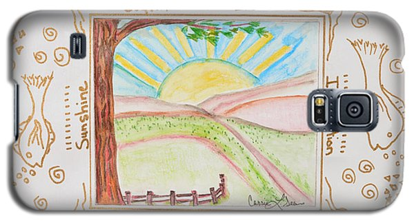 Galaxy S5 Case featuring the painting You Are My Sunshine by Cassie Sears