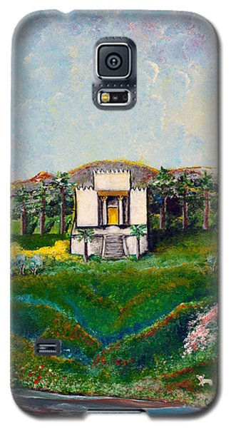 Galaxy S5 Case featuring the painting You Are The Temple Of God by Cassie Sears