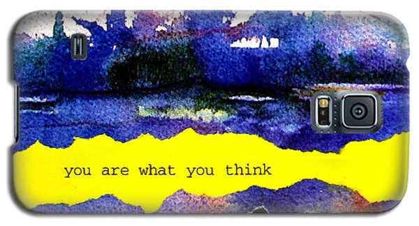 You Are What You Think Collage 2 Galaxy S5 Case