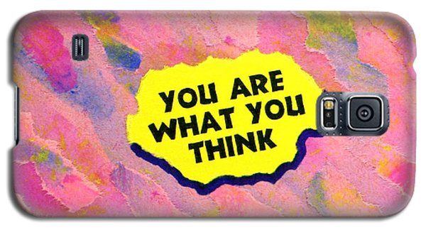 Galaxy S5 Case featuring the painting You Are What You Think Collage by Bob Baker