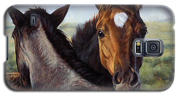 Galaxy S5 Case featuring the painting You Scratch Mine by JQ Licensing