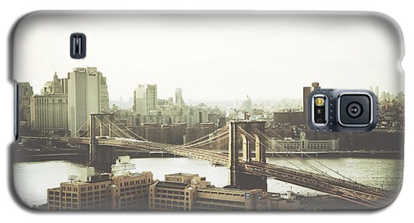 You'll Miss Her Most When You Roam ... Cause You'll Think Of Her And Think Of Home ... The Good Old Brooklyn Bridge Galaxy S5 Case