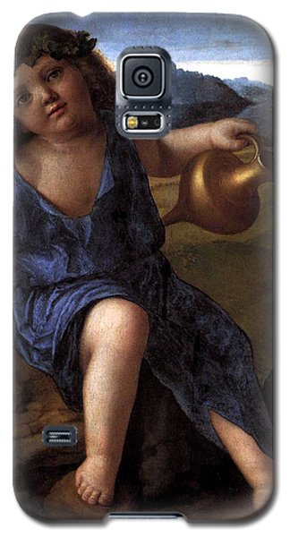 Galaxy S5 Case featuring the painting Young Bacchus Dionysus Giovanni Bellini 1514 by Karon Melillo DeVega
