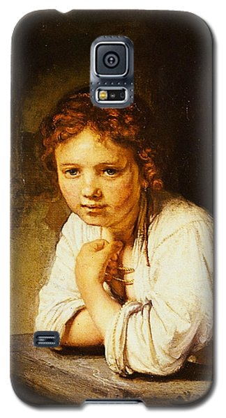 Young Girl At A Window Galaxy S5 Case by Rembrandt