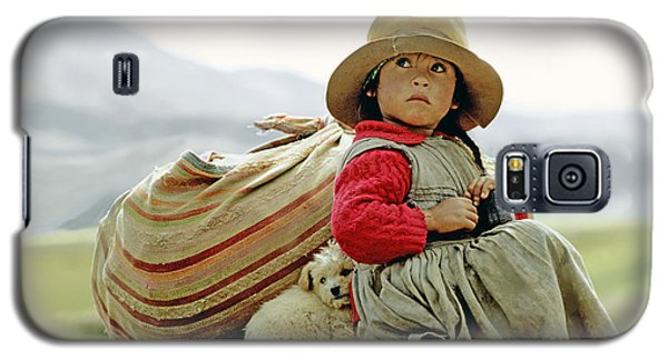 Young Girl In Peru Galaxy S5 Case