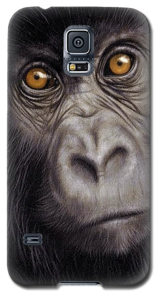 Gorilla Galaxy S5 Case - Young Gorilla Painting by Rachel Stribbling