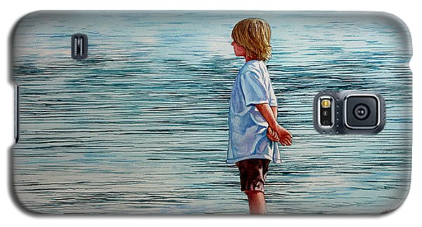 Young Lad By The Shore Galaxy S5 Case