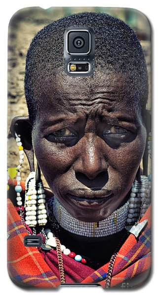 Portrait Of Young Maasai Woman At Ngorongoro Conservation Tanzania Galaxy S5 Case