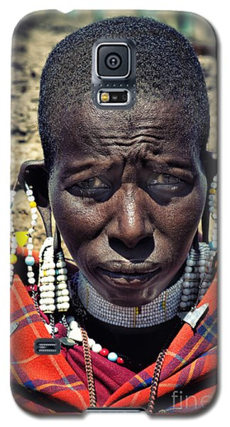 Galaxy S5 Case featuring the photograph Portrait Of Young Maasai Woman At Ngorongoro Conservation Tanzania by Amyn Nasser