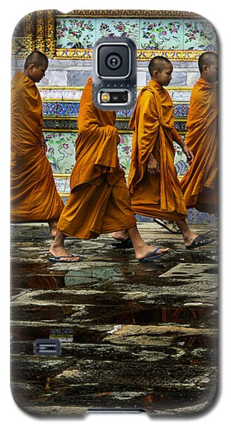 Galaxy S5 Case featuring the photograph Young Monks by Rob Tullis