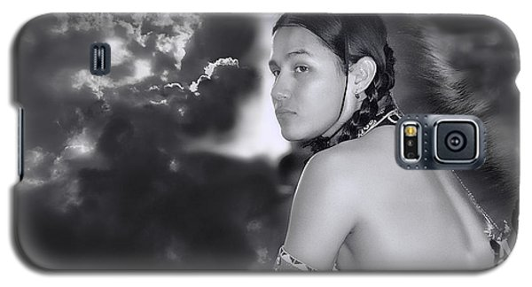 Young Native American Bw  Galaxy S5 Case