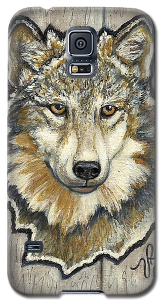 Galaxy S5 Case featuring the painting Young Wolf by VLee Watson