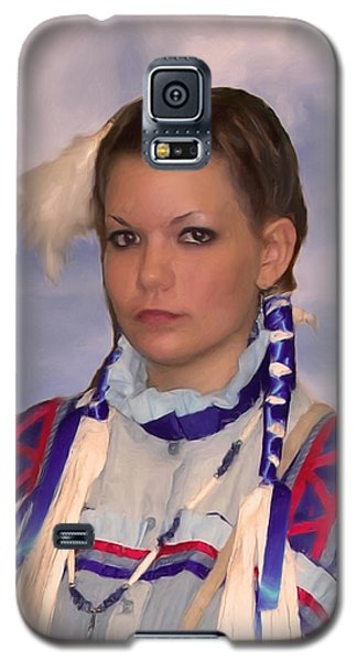 Young Woman In Blue Galaxy S5 Case by Spyder Webb