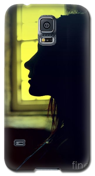 Young Woman Silhouetted Profile Galaxy S5 Case