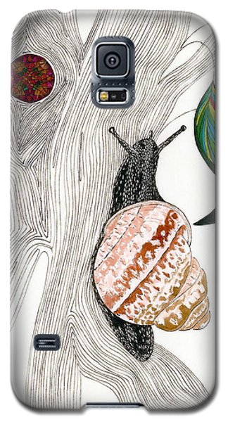 Galaxy S5 Case featuring the drawing Your Garden Snail by Dianne Levy
