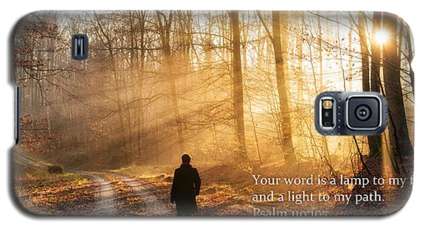 Your Word Is A Light To My Path Bible Verse Quote Galaxy S5 Case