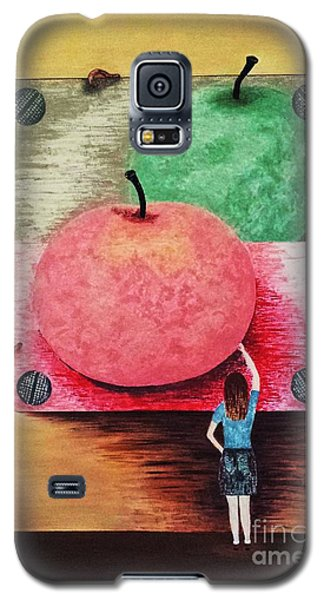 Galaxy S5 Case featuring the painting Youth And Maturity by Jasna Gopic
